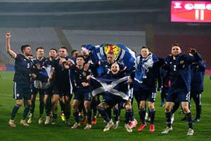 สกอตแลนด์ มีสิทธิ์เข้าร่วมการแข่งขันรายการใหญ่ครั้งแรก